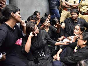 Sabarimala row: Cops detain devotees, shift women to Pamba base camp