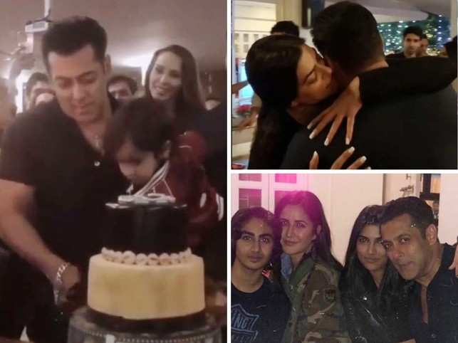 Actor Salman Khan turned 53 today, and hosted a birthday bash at his farmhouse in Panvel, Navi Mumbai.  Along with family father Salim Khan, mother Salma, brothers Sohail & Arbaaz, sisters Arpita & Alvira, the who's who of Bollywood like Katrina Kaif, Sushmita Sen, Iulia Vantur among others, attended the private party.  Here's a look the intimate birthday party.