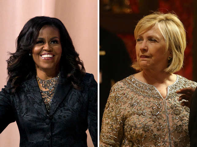 michelle obama replaces hillary clinton as the most admired women in