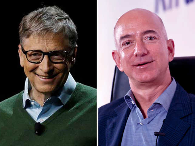 Image result for bill gates jeff bezos