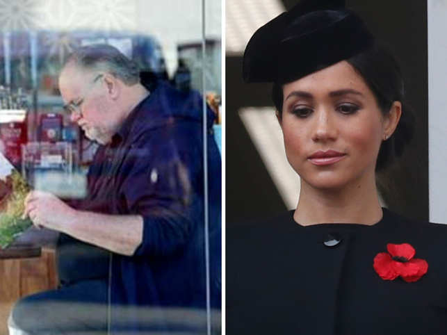 ​Thomas Markle and Duchess of Sussex Meghan (R)
