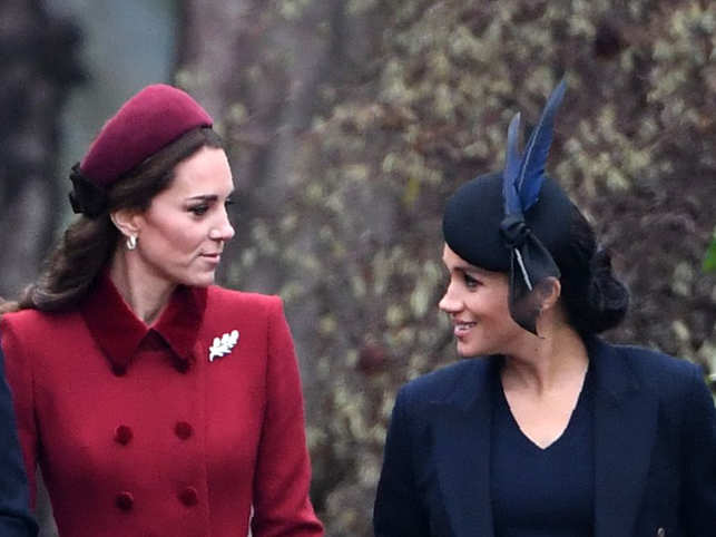 Rumours of a bitter fallout between the Duchess of Sussex, Meghan Markle (right), and the Duchess of Cambridge, Kate Middleton (left), have been making headlines. But they aren't the first aristocrats — or the last — to have a royal feud.