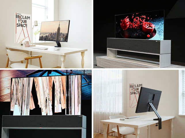 CES 2019 has begun and we cannot keep calm. The biggest consumer technology exhibition in the world has all things fancy for us to watch-out for. From, LG's roll-up TV to Samsung's Space Monitor; here's a look at some of the biggest showcases:(In Pic: Top left and bottom right - Samsung Space Monitor, Top right and bottom left - LG Roll-up TV)