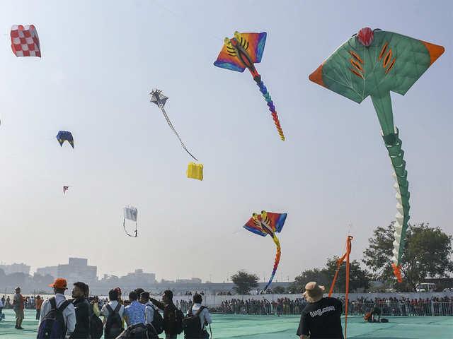 Skies become colourful as Gujarat celebrates kite festival