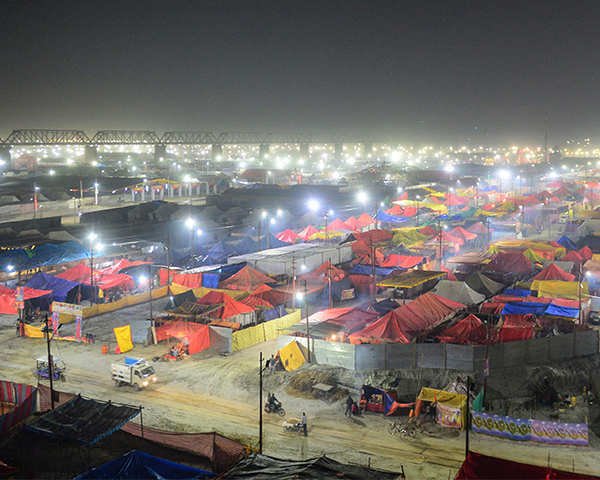Kumbh Mela: Prayagraj lights up ahead of the event