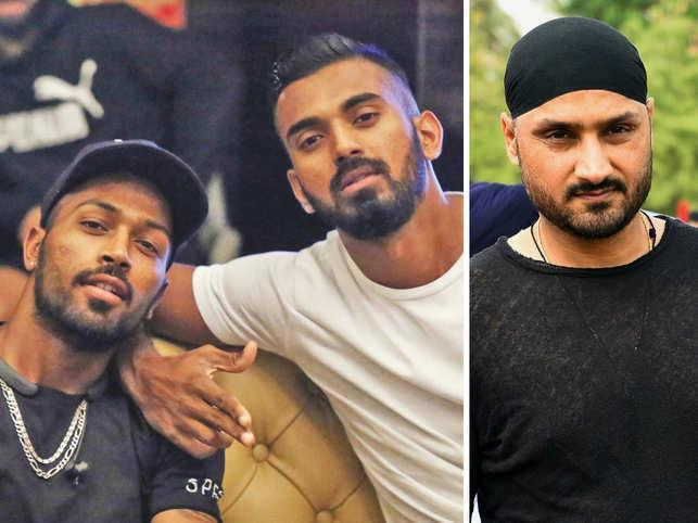 Hardik Pandya, KL Rahul, and Harbhajan Singh