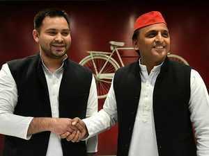 2019 Polls: RJD backs SP-BSP alliance in UP, Tejashwi Yadav meets Akhilesh, Mayawati