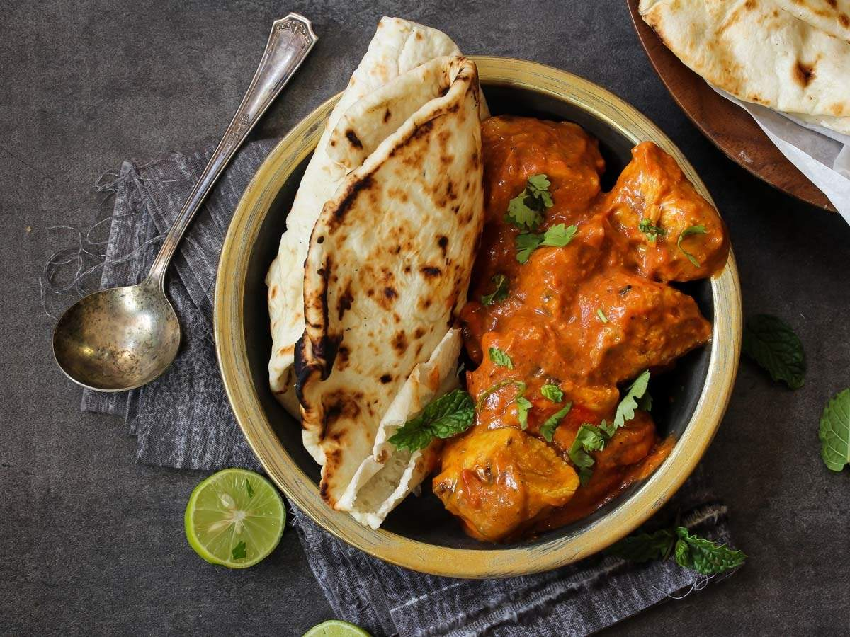 Image result for butter chicken naan
