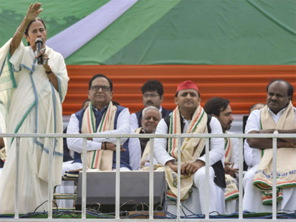 Opposition flexes muscles at Mamata's rally, says Modi government past 'expiry date'