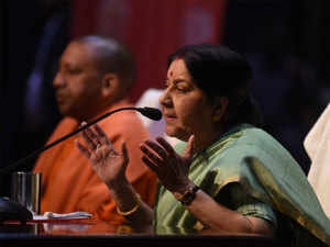 Countries like US, Japan, China ageing, India getting younger: Sushma Swaraj