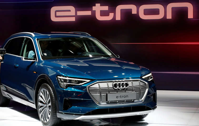 WEF goes green: Audi powers Davos fleet with 50 e-tron cars