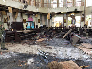 Philippines cathedral bombing sparks peace process worries