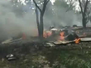 IAF Jaguar fighter plane crashes in Kushinagar, U.P