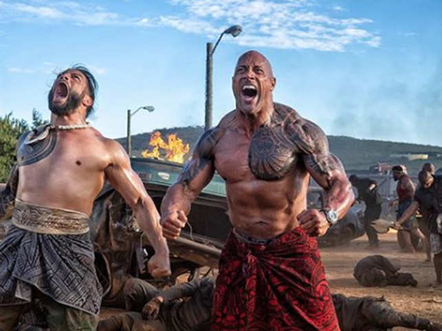 Dwayne 'The Rock' Johnson shares photo from sets of his new film with WWE superstar Roman Reigns