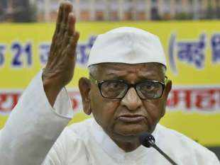 Activist Anna Hazare goes on hunger strike from today for Lokpal