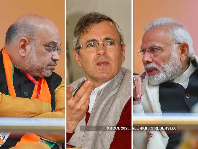 Amit Shah, Omar Abdullah & Narendra Modi