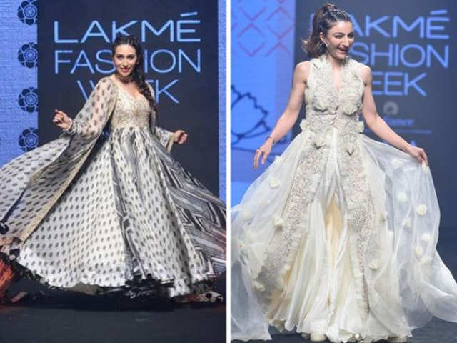 Lakme Fashion Week 2019 Bebo Kjo Pv Sindhu Set The Ramp On Fire An Evening Of Fashion The Economic Times