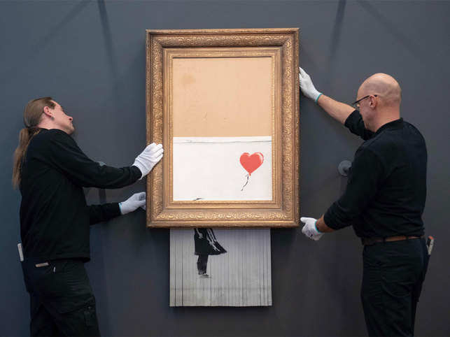 Banksy Self Shredding Mechanism Deactivated Banksy Painting Goes