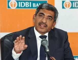 Mumbai: IDBI Bank MD & CEO Rakesh Sharma announces the bank's financial results,...