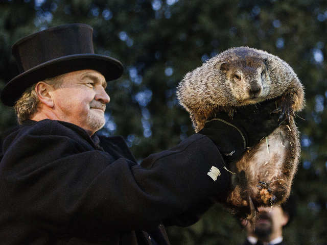 State-of-the-art gadgetry doesn't matter, groundhog boldly predicts an early spring this year