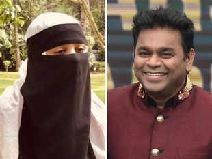 AR Rahman and his daughter Khatija