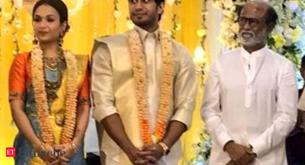 Rajinikanth Hosts Pre Wedding Reception For Daughter Soundarya