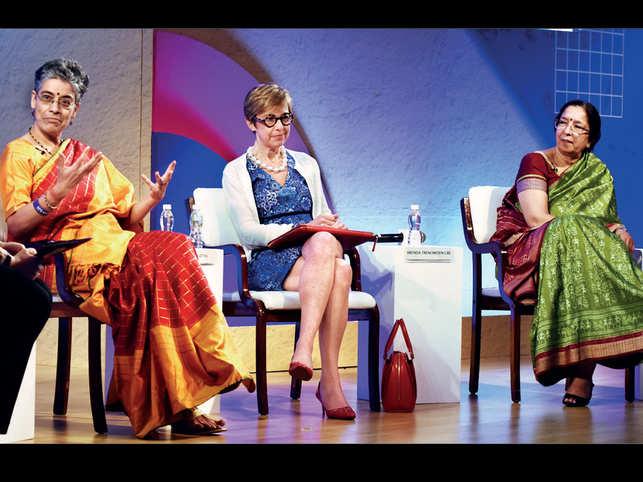 (From left) Ireena Vittal, Brenda Trenowden and Shikha Sharma