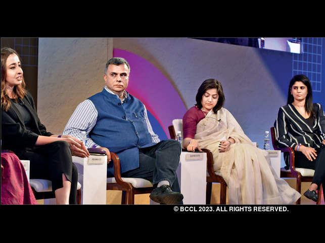 (From left) Priyanka Gill, Sudhir Sethi, Saloni Malhotra and Anjana Reddy
