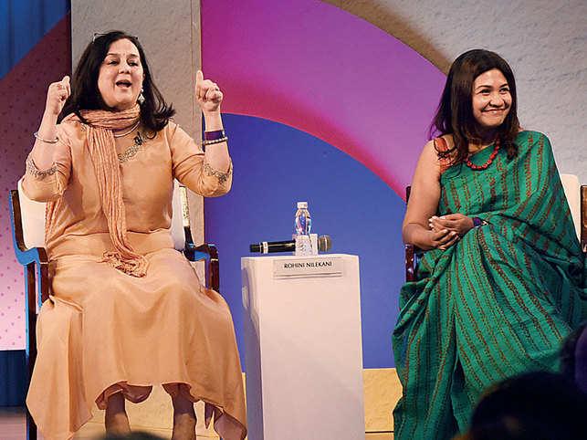 Rohini Nilekani and Vidya Shah