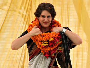 Watch: Preparations at Congress office in Lucknow for Priyanka Gandhi's visit