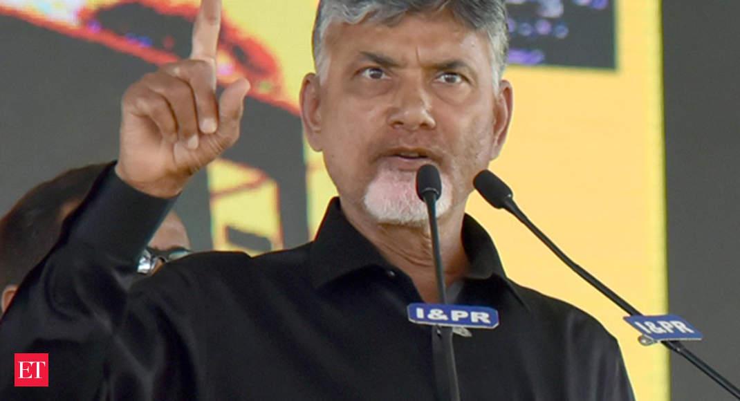 Chandrababu Naidu begins his day-long hunger strike at Andhra Pradesh Bhawan