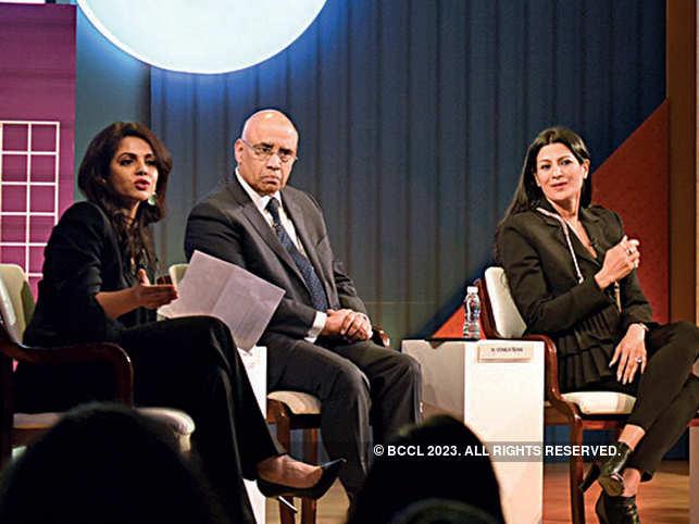 From left) Namita Thapar, N Venkatram, Dipali Goenka