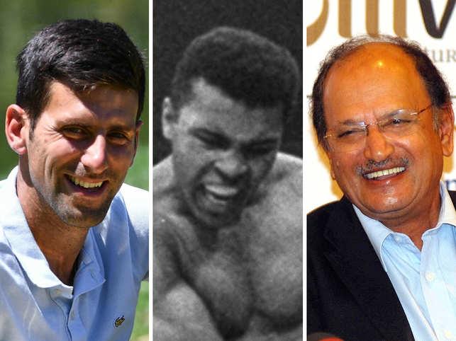 Novak Djokovic, Muhammad Ali & Ajit Wadekar