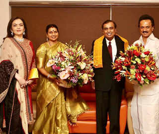 Mukesh Ambani, wife Nita meet MK Stalin in Chennai; invite DMK chief for Akash-Shloka's wedding