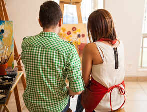 Secret to a happy & loving relationship: Take art classes, play board games