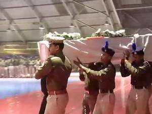 Pulwama attack: Wreath-laying ceremony of the CRPF jawans at Palam airport