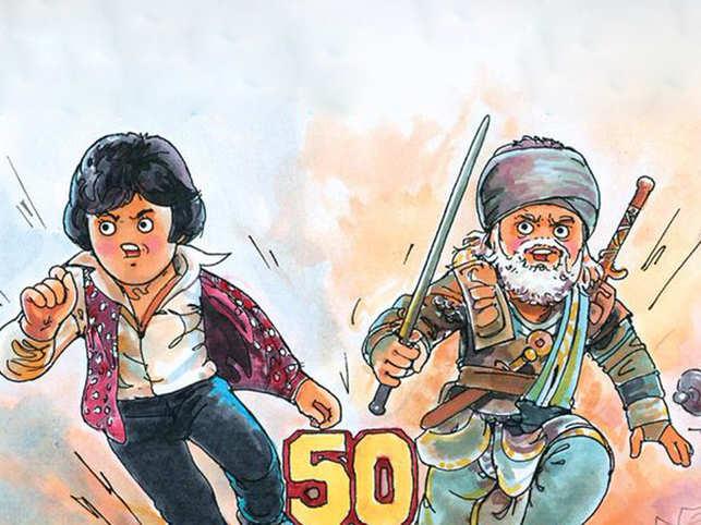 Big B clocks 50 years in Bollywood, Amul says it with a cutesy image