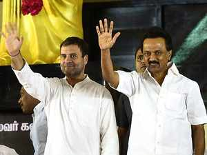 2019 Polls: DMK finalises seat sharing with Congress, allots 9 seats in Tamil Nadu