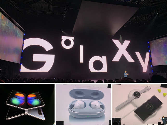 At the 2019 Samsung 'Unpacked' event in San Francisco, the tech giant unveiled its upcoming Galaxy S10 phones, 5G smartphone, Galaxy buds and smartwatches. The tech-heavy evening witnessed the launch of the world's first foldable phone. The Korean tech tycoon set the standards high for competition by taking the wraps off the world's first-ever 5G smartphone. But this is not where it ends. Samsung left tech geeks in awe of the new gadgets launched. Without much ado, take a look at the highlights of Samsung's 'Unpacked' event.