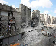 In Aleppo, residents scramble for shelter