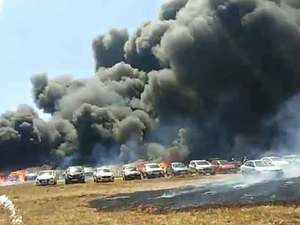 Fire in Aero India 2019 show at Bengaluru, many cars gutted