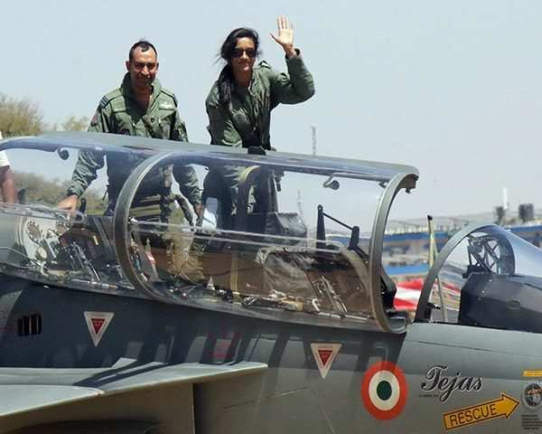 Aero India 2019: PV Sindhu flies LCA Tejas at Bengaluru Air Show