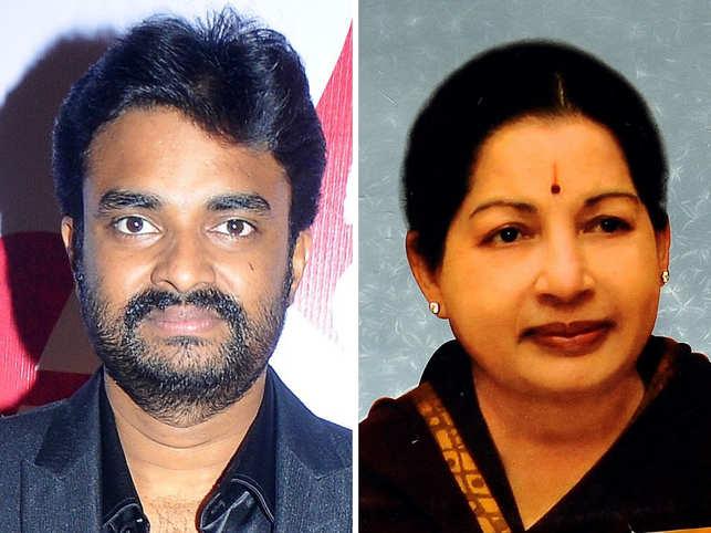 Director Vijay and Jayalalithaa (R)