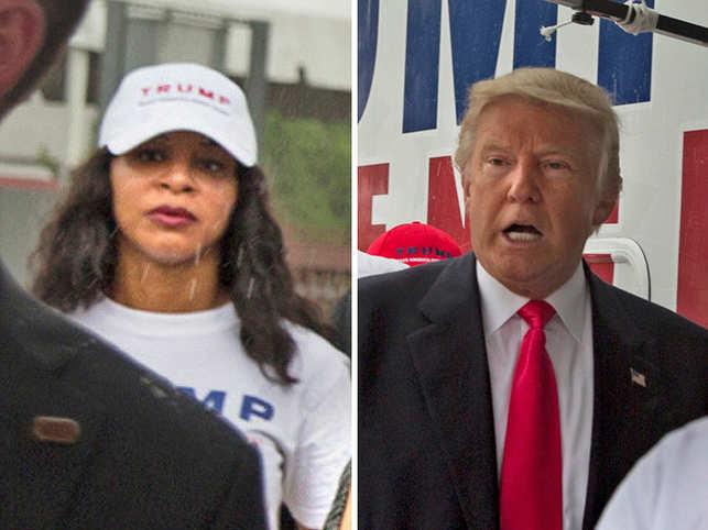 Alva Johnson and Donald Trump