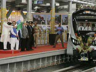PM Modi flags off Ahmedabad Metro first phase, takes a ride
