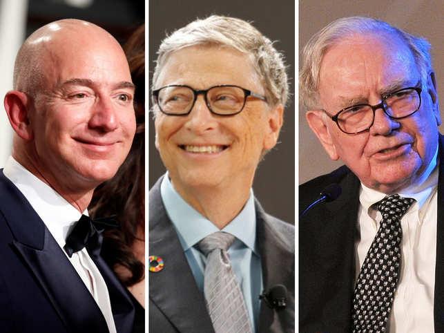 Jeff Bezos, Bill Gates and Warren Buffett