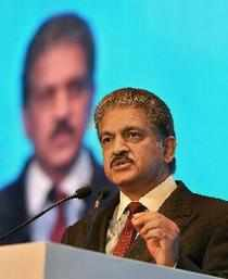 New Delhi: Anand Mahindra, Chairman Mahindra Group, speaks during special plenar...