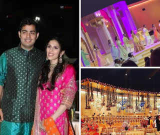 Akash-Shloka wedding: Team Bride shakes a leg at the 'mehendi' function