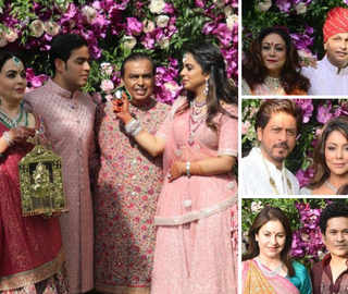 Akash-Shloka Wedding: Nita, Isha Ambani Dazzle In Pink; Anand Mahindra, Tony Blair Attend