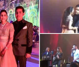 Akash, Shloka sway to Maroon 5 performing 'She Will Be Loved', for their first dance as married couple